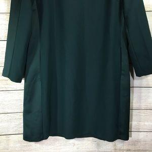 Zara Dresses - Zara Basic Emerald Side Pockets Long Sleeve Dress